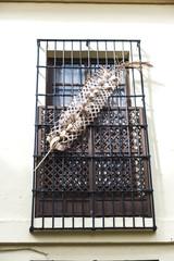 Balcony of a convent in Granada, Spain