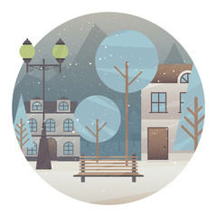 Winter holidays card