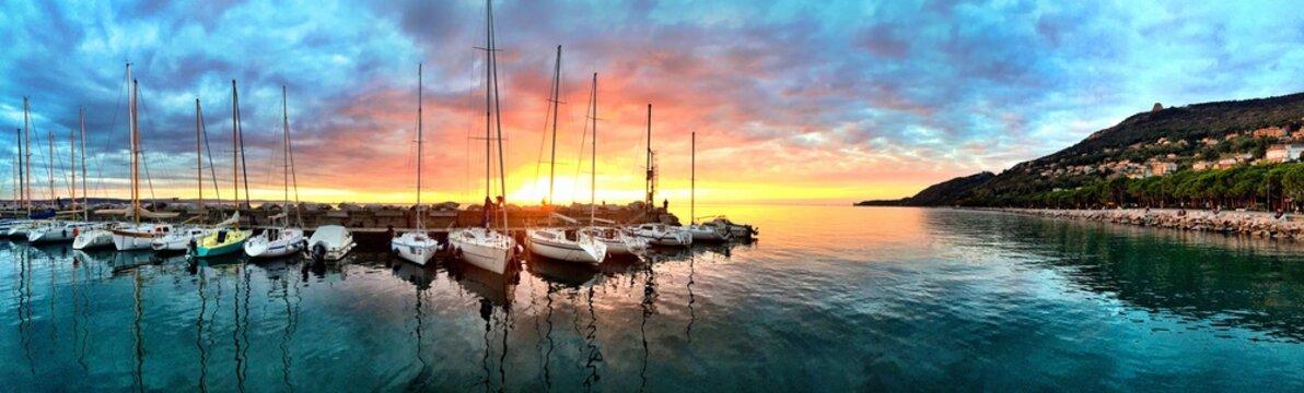 Magic Sunset at the Harbor