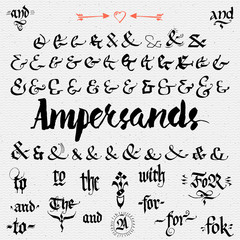 Ampersands Hand Drawn and catchwords