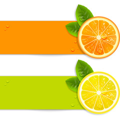Banners with Orange and Lemon