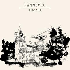 Hannover Germany vintage postcard