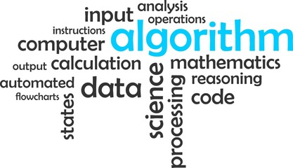 word cloud - algorithm