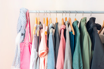 Pastel Female Clothes in a Row