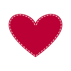 Cute Red Heart Icon for the Saint Valentine's Day
