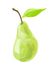 pear green white background