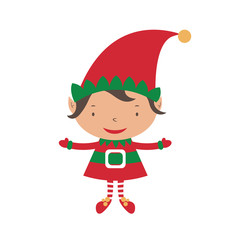 Christmas Elf Card template. Vector