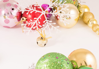 Christmas Balls with white  background