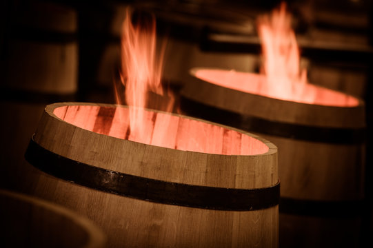 Barrel Making in Bordeaux Wineyard