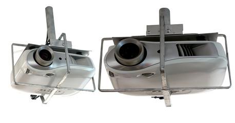 silver pendant projector