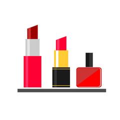 lipstick nail varnish makeup flat icon