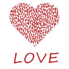 Red heart - vector illustration