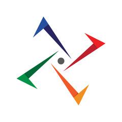 Abstract Arrow Logo Template