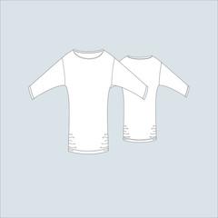 Female T-shirt. T-shirt for girls. Cardigan jersey.