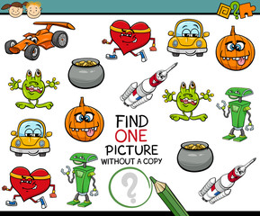 find single picture preschool task
