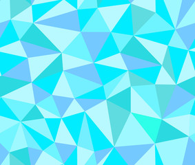 Abstract vector polygonal seamless pattern from triangles. Decorative endless texture
