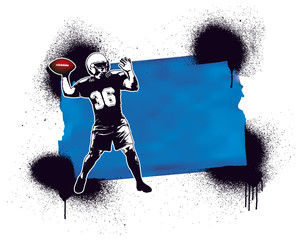 american football player with inky frame
