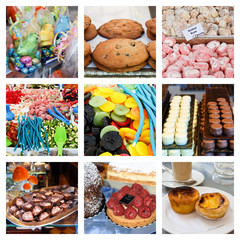Collage of sweet and delicious treats