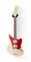 Electric guitar - Rock / Pop / Jazz / Alternative. Music equipment. Flat style vector illustration.