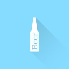 Beer bottle vector icon.