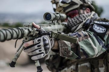Soldier Aim target