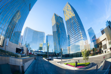 Foto op Aluminium Las Vegas Business centre with skyscrapers, Las Vegas