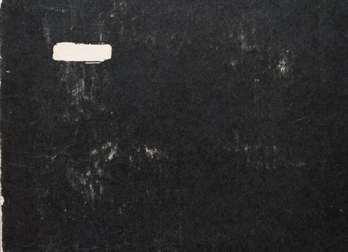 old black paper cover of book