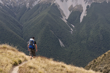 Hiking in the South Island, New Zealand