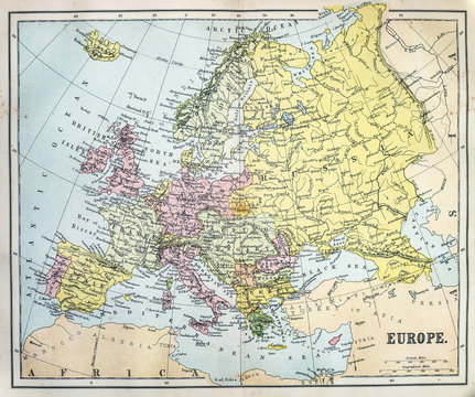 Map of 19th Century Europe