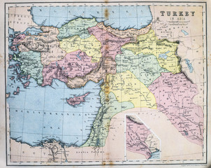 Map of 19th Century Turkey