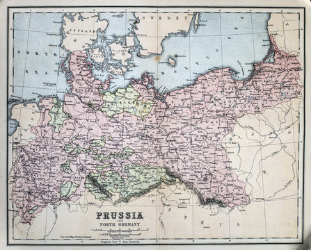 Map of 19th Century Prussia