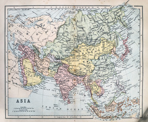 Map of 19th Century Asia