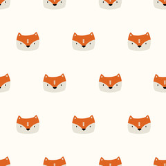 seamless cute fox pattern