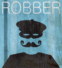 robber design with wood grain texture