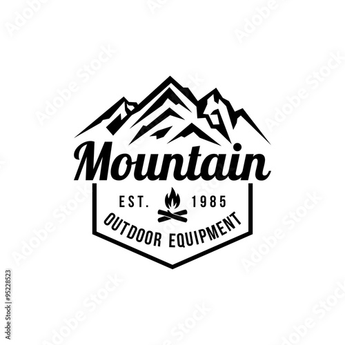 Mountain hipster logo template stock image and royalty free vector mountain hipster logo template maxwellsz