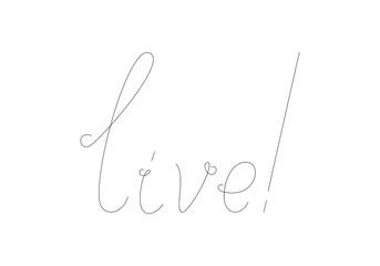 Live lettering