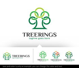 Tree Circle Logo Template Vector Design