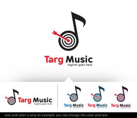 Target Music Logo Template Vector Design