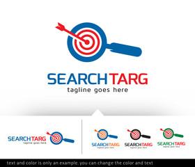 Search Target Logo Template Vector Design