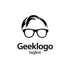 geek and nerd logo character