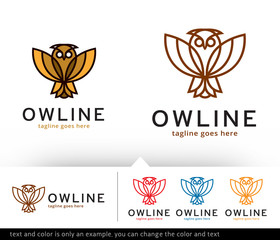 Owl Logo Template Vector Design