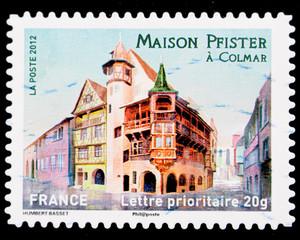 Timbre de France de 2012 - Maison Pfister à Colmar