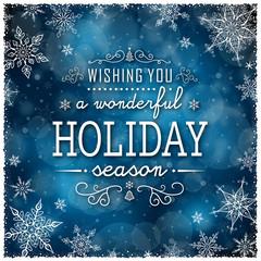 Christmas Winter Frame - Illustration. Vector illustration of Christmas Winter Background. Christmas Dark Blue - Text Frame Square.