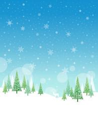 Christmas Winter Frame - Illustration. Vector illustration of Christmas Winter Background. Christmas Card Nature - No text Portrait.