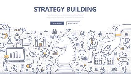 Strategy Building Doodle Concept
