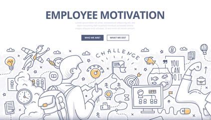 Employee Motivation Doodle Concept