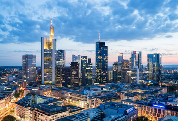Frankfurt am Main Architektur Skyline Panorama