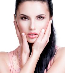 Fototapete - Closeup portrait of the beautiful sensual woman.