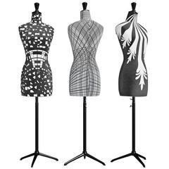 Classical female mannequins headless