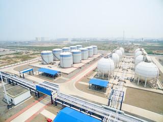 overlook of oil depot